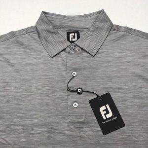 🆕 FOOTJOY GOLF Mens Gray Space Dye Polo Shirt